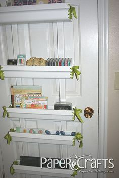 Craft Room Organization and Storage #practical #affordable    This might work for ribbon organization on the outside of the closet door.