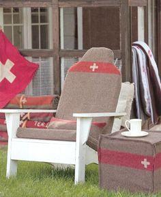 Bear Chair Swiss Army Blanket Cushion