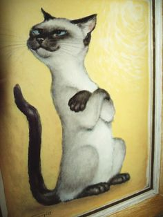 siamese cat attitude prints by gia 12.5 X 10.5 inches