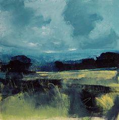 "Blue Contempo #1 by Richard Morin Oil ~ 12"" x 12"""