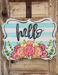 Spring and Summertime Label Door Hanger Spring and Summertime Label Door Hanger Letter Door Hangers, Initial Door Hanger, Baby Door Hangers, Burlap Door Hangers, Spring Door, Spring Sign, Hospital Door Hangers, Spring Painting, Painted Doors