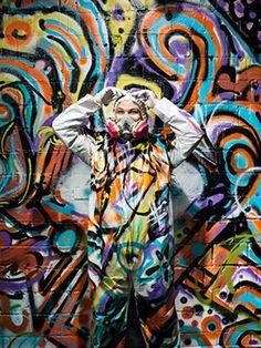 Graffiti street art portrait by SAINT LUCY Represents photographer Michael Clinard