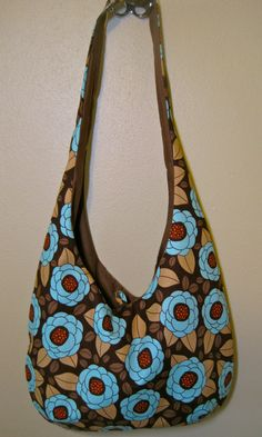 "Adorable ""Emma"" sling purse from Off-Beat Mama on Etsy. $24"