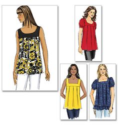 Butterick B5217 - Not wanting to be left out, Butterick gets in on the bust-suppression/waistline-hiding scheme.