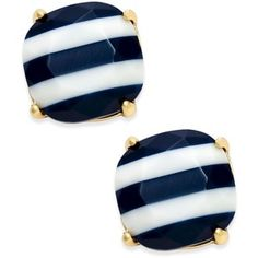 kate spade new york 14k Gold-Plated Nautical Striped Stud Earrings
