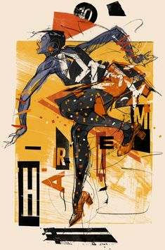 I created this set of six posters to promote the work of The Harlem Swing Dance Society in NYC. With each image I set out to capture the dynamism, physicality, and elegance of unique dance moves from the Savoy Ballroom of the showing individual da… Jazz Art, Jazz Music, Jazz Poster, Cuban Art, Unique Poster, Political Art, Color Studies, African American Art, Dance Photography