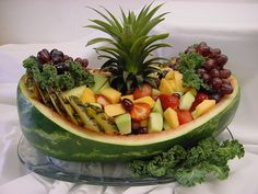 watermelon boat - cute!