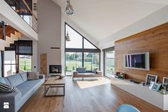 Modern single-family home in Poland. Architects/Builders: DOMY Z WIZJA Design Studio Small House Design, Dream Home Design, Modern House Design, Rustic Houses Exterior, Dream House Exterior, Modern Bungalow Exterior, Hamptons House, Home Fashion, Home Deco