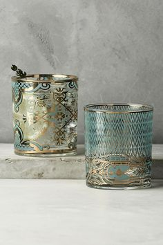 Taking inspiration from ornate vintage barware, Patina Vie designs exquisitely… Fall Accessories, Kitchen Accessories, Chandeliers, Blue Cocktails, Enchanted Home, European Home Decor, Deco Table, Jewel Tones, Glass Design