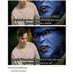 X-Men Memes - Nicholas Hoult. Dc Memes, Marvel Memes, Marvel Dc Comics, Funny Memes, Hilarious, Nicholas Hoult, Fandoms, The Avengers, Real Friends