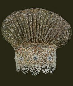 Borushka, a traditional headdress of a married woman from Vologda Province, Russia. 18th century. #Russian #folk #costume