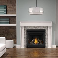 Napoleon's Ascent™ Series has endless opportunities and is perfect for home builders and homeowners alike. The shallow depth allows for versatile installations where space is at a premium, also ideal for corner applications. The clean face of the Ascent™ 36 maximizes the viewing area so the realistic flames and hand painted PHAZER® log set are enjoyed to their fullest. Equipped with Napoleon's advanced burner technology and an approved safety barrier, the Ascent™ 36 meets tomorrow's safety…