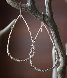 Rough Black Diamond Hoop Earrings; http://www.etsy.com/listing/66801506/rough-black-diamond-hoop-earrings
