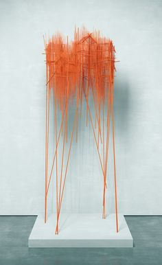 "David Moreno describes his artistic process as ""trying to draw sculptures."""