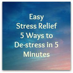Easy Stress Relief  #stressrelief #destress #stresshelp