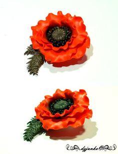 Poppy brooch | Flickr - Photo Sharing!