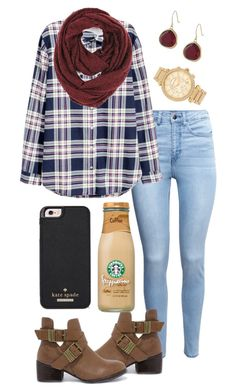 """Love is just a word until someone gives you the definition "" by madelyn-abigail ❤ liked on Polyvore featuring H&M, Breckelle's, Paula Bianco, Kate Spade, Karen Kane and Michael Kors"