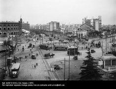 La plaça d'Espanya. Barcelona, ca. 1920. Col. Roisin / Institut Estudis Fotogràfics Catalunya Publicat per Giacomo Alessandro