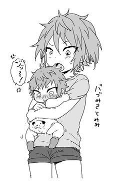 Little Misaki and Baby Misaki. Urgh so cuteeeee / Yata Misaki / K series