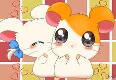 Hamtaro and bijou by on DeviantArt Cute Drawing Images, Cute Little Drawings, Cute Kawaii Drawings, Cute Animal Drawings, 2000 Cartoons, Disney Cartoons, Kawaii Wallpaper, Cartoon Wallpaper, Anime Toon