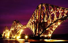 The Forth Rail Bridge over the Firth of Forth, Scotland - my all-time favourite, it makes me think of 'Walking With Dinosaurs'. John Carroll photography