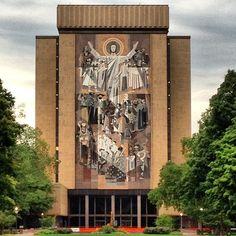 Notre Dame Stadium Touchdown Jesus