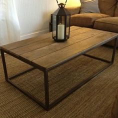 Custom Made Welded Base Coffee Table With Reclaimed Wood Top Wood Sofa Table, Sofa Tables, Coffee And End Tables, Coffe Table, Industrial Style Coffee Table, Sofa Furniture, Wood And Metal, Barn Wood, Base