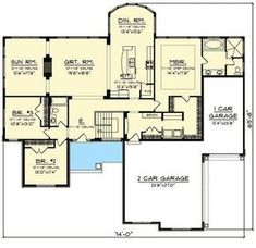 I would want to extend the master bath into the one car garage 4 Gabled 3 Bed Craftsman House Plan - 89992AH | 1st Floor Master Suite, Butler Walk-in Pantry, CAD Available, Craftsman, Northwest, PDF, Ranch, Split Bedrooms, Traditional | Architectural Designs