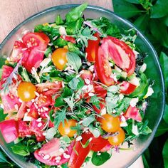 Summer #gardentotable salad.  From @eat_to_thrive Instagram