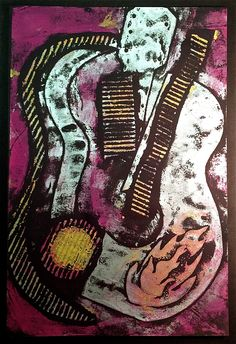 Collagraph Printmaking Lesson @ www.createartwithme.com