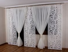 Gloria 5 Komplet na Balkon 3 panele +kokony kar - 6006566451 - oficjalne archiwum allegro Home Curtains, Window Decor, Curtains Bedroom, Home Decor, Curtains, Room Decor, Bedroom Decor, Curtain Styles, Curtain Decor