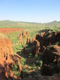 """""""New York"""" in Äthiopien - Sandsteinfelsen in der Nähe von Konso  #Äthiopien #NewYork #Natur #Landschaft  http://www.parkvogel.de/blog/aethiopien-konso-reisebericht/"""