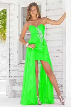 Brand New Empire Sweetheart Chiffon Beading unique Prom Dress ...