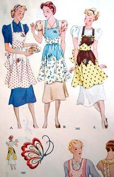 My happy sewing place Mission McCall Monday missing images 500510 Vintage Apron Pattern, Vintage Sewing Patterns, Apron Patterns, Moda Vintage, Vintage Love, Sewing Crafts, Sewing Projects, Diy Crafts, Retro Fashion