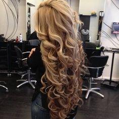 Curls on long hair