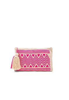 Guanabana Zig Zag Medium Bucket Bag in Pink | REVOLVE