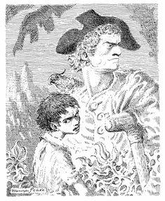 """Long John Silver"" by Mervyn Peake from ""Treasure Island"" by Robert Louis Stevenson"