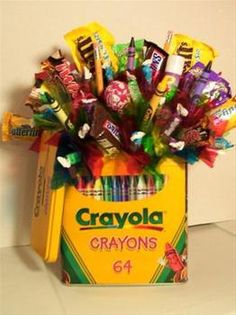Crayola Candy Bouquet. $30.00, via Etsy.