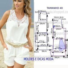 MOLDE DE MACACÃO FÁCIL -16 | Moldes Moda por Medida | Bloglovin'