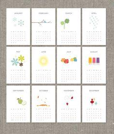 2013 Printable Calendar PDF por ashdelaney en Etsy