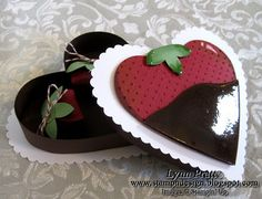 Chocolate Covered Strawberry Cards & Box | Stamp-n-Design Store