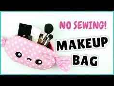 NO SEW! Kawaii Makeup Bag | DIY Candy Makeup Bag | DIY Candy Pencil Case - YouTube