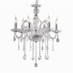 Ideal Lux smoked glass chandelier Casanova buy now