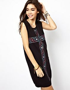 ASOS Tank Dress With Cross Embroidery