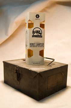 Walter Shock is a student at Pratt Institute. Check out a honey sampler he created for a local farm.