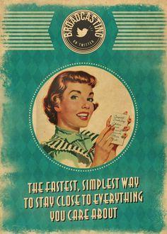 Vintage social network Ads - De volta ao retrô