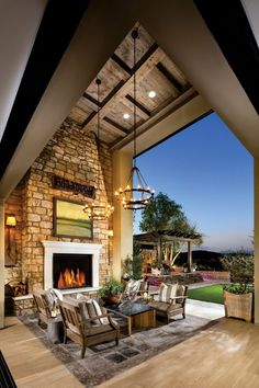 Experience the luxury of indoor/outdoor living at Toll Brothers at Hidden Canyon. Experience the luxury of indoor/outdoor living at Toll Brothers at Hidden Canyon. California Room, California Homes, Outdoor Living Rooms, Living Spaces, Living Area, Outside Living, Outdoor Spaces, Outdoor Kitchen Design, Outdoor Kitchens