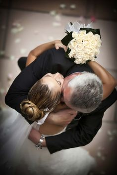 Father of the bride with the bride. Love this photograph taken from this angle.