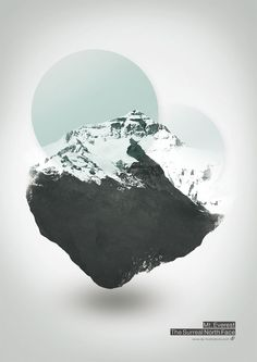 Mount Everest – The Surreal Northface – Illustration by Dirk Petzold