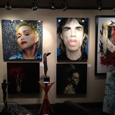 #ElisabettaFantone Elisabetta Fantone: Happy to share with you that my works can also be found at the Galerie du Château Frontenac in Quebec City! Head over there to see my @Madonna and @MickJagger portraits! Contente de vous partager que mes oeuvres sont également exposées à la Galerie du Château Frontenac à Québec. Rendez-vous à la galerie pour voir le portrait de #Madonna et #MickJagger. #art #artgallery #contemporaryart #popart #portraits #icons #artist #painting